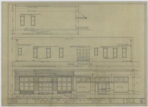 Higginbotham & Co. Garage, Stephenville, Texas: Front, Rear, & End Elevation