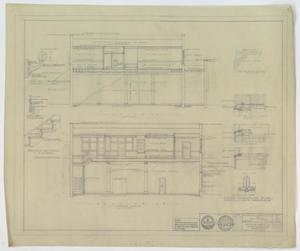 Primary view of object titled 'Pittard Office & Store Building, Anson, Texas: Side Elevations'.