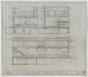 Primary view of object titled 'Snyder National Bank, Snyder, Texas: Longitudinal & Cross Section Renderings'.