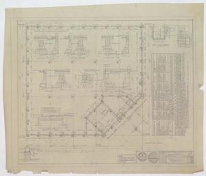 Business Building, Abilene, Texas: Foundation Plan, A Business Building For Mr. H.O. Wooten, Abilene, Texas: Sheet 1G, Business Building, Abilene, Texas, Commercial Buildings