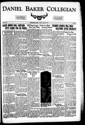 Primary view of object titled 'The Collegian (Brownwood, Tex.), Vol. 31, No. 23, Ed. 1, Friday, March 26, 1937'.
