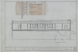 Primary view of object titled 'Robert Mancill Building, Cisco, Texas: Longitudinal Elevation & Cornice Detail'.