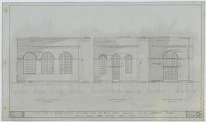 West Texas Utilities Power Plant, Stamford, Texas: West, South, & North Elevations, Plans For A Power Plant Building For The West Texas Utilities Co, Stamford, Texas: Sheet 2, West Texas Utilities Power Plant, Stamford, Texas, Commercial Buildings