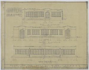 Plans for the Wylie High School, Abilene, Texas: Elevation Renderings, Plans for the Wylie High School, Abilene, Texas: Sheet 3, School Buildings