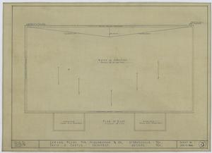 Higginbotham & Co. Garage, Stephenville, Texas: Plan of Roof