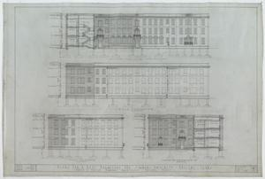 Primary view of object titled 'Simmons University Dormitory, Abilene, Texas: Front, Rear, & End Elevation'.