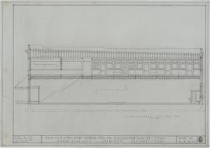 Two Story Business Building, Ranger, Texas: Longitudinal Section, Plans For A Two Story Business Building For Mr. M. H. Hagaman, Ranger, Texas: Sheet 6, Two Story Business Building, Ranger, Texas, Commercial Buildings