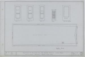 Primary view of object titled 'Robert Mancill Building, Cisco, Texas: Roof Plan'.