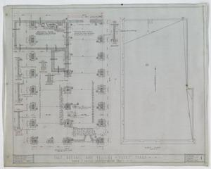 First National Bank, Pecos, Texas: Foundation & Roof Plans, First National Bank Building, Pecos, Texas: Sheet 1, First National Bank, Pecos, Texas, Commercial Buildings