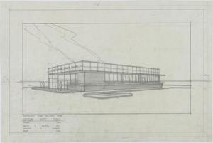 Primary view of object titled 'Citizens State Bank, Midland, Texas: Outside Rendering'.