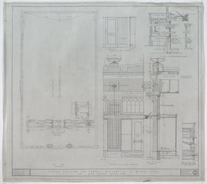 Campbell Mercantile Co. Store, Munday, Texas: Roof Plan & Wall Elevation