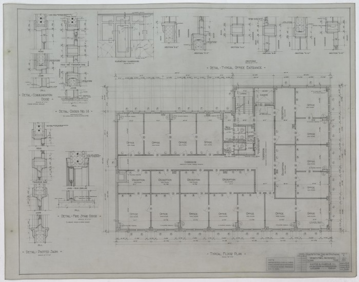 Five Story Store And Office Building Coleman Texas Typical Floor Plan The Portal To Texas History
