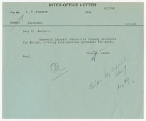 Letter from Thos. L. James to D. W. Kempner, May 7, 1948