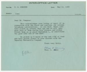 Letter from Thos. L. James to D. W. Kempner, May 12, 1948