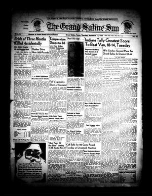 Primary view of object titled 'The Grand Saline Sun (Grand Saline, Tex.), Vol. 55, No. 52, Ed. 1 Thursday, November 13, 1947'.