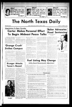 Primary view of object titled 'The North Texas Daily (Denton, Tex.), Vol. 62, No. 22, Ed. 1 Tuesday, October 10, 1978'.