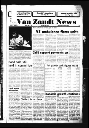 Primary view of object titled 'Van Zandt News (Wills Point, Tex.), Vol. 3, No. 46, Ed. 1 Sunday, April 21, 1985'.