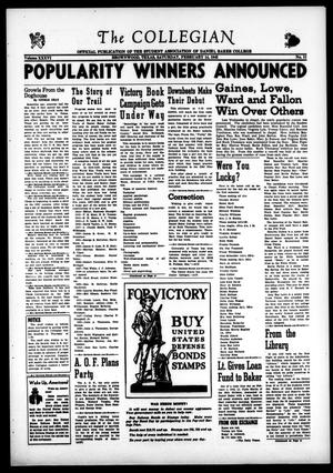 Primary view of object titled 'The Collegian (Brownwood, Tex.), Vol. 36, No. 11, Ed. 1, Saturday, February 14, 1942'.