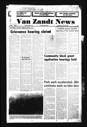 Primary view of object titled 'Van Zandt News (Wills Point, Tex.), Vol. 4, No. 13, Ed. 1 Sunday, September 1, 1985'.