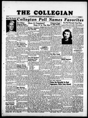 Primary view of object titled 'The Collegian (Brownwood, Tex.), Vol. 38, No. 17, Ed. 1, Wednesday, February 25, 1948'.