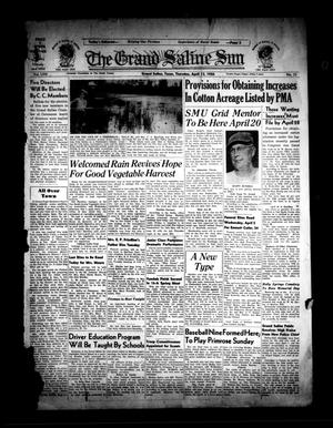 Primary view of object titled 'The Grand Saline Sun (Grand Saline, Tex.), Vol. 58, No. 22, Ed. 1 Thursday, April 13, 1950'.