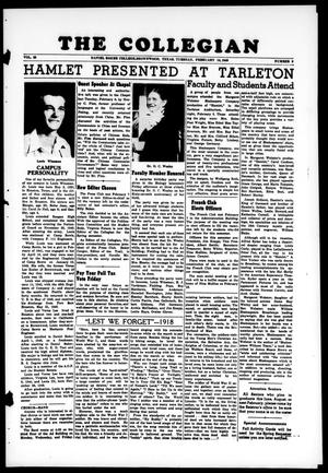 Primary view of object titled 'The Collegian (Brownwood, Tex.), Vol. 39, No. 9, Ed. 1, Monday, February 14, 1949'.