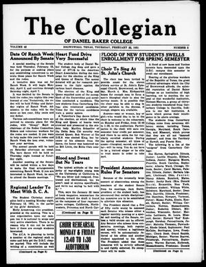 Primary view of object titled 'The Collegian (Brownwood, Tex.), Vol. 42, No. 2, Ed. 1, Thursday, February 22, 1951'.