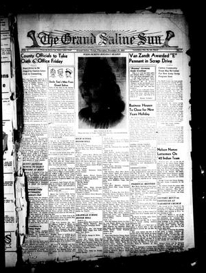 Primary view of object titled 'The Grand Saline Sun (Grand Saline, Tex.), Vol. 50, No. 7, Ed. 1 Thursday, December 31, 1942'.