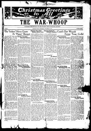 Primary view of object titled 'The War-Whoop (Abilene, Tex.), Vol. 1, No. 7, Ed. 1, Wednesday, December 12, 1923'.