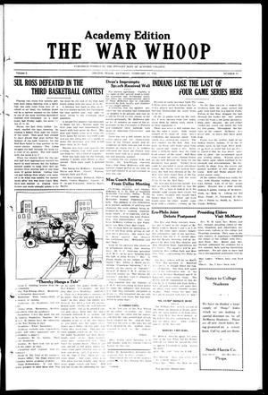 The War-Whoop (Abilene, Tex.), Vol. 1, No. 13, Ed. 1, Saturday, February 23, 1924