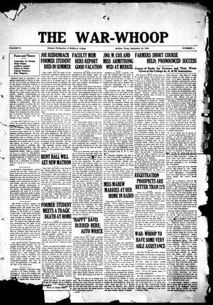 The War-Whoop (Abilene, Tex.), Vol. 2, No. 1, Ed. 1, Tuesday, September 16, 1924