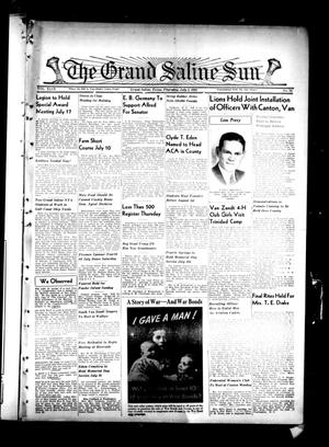 Primary view of object titled 'The Grand Saline Sun (Grand Saline, Tex.), Vol. 49, No. 34, Ed. 1 Thursday, July 2, 1942'.