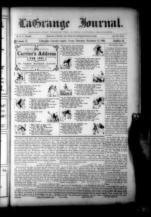 Primary view of La Grange Journal. (La Grange, Tex.), Vol. 27, No. 52, Ed. 1 Thursday, December 27, 1906