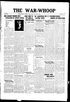 The War-Whoop (Abilene, Tex.), Vol. 2, No. 25, Ed. 1, Saturday, April 4, 1925