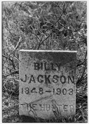 Primary view of object titled '[Headstone of Billy Jackson - Anderson County, Texas]'.