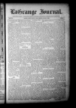 Primary view of object titled 'La Grange Journal. (La Grange, Tex.), Vol. 25, No. 4, Ed. 1 Thursday, January 28, 1904'.