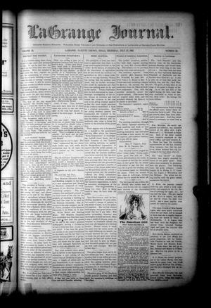 Primary view of La Grange Journal. (La Grange, Tex.), Vol. 26, No. 30, Ed. 1 Thursday, July 27, 1905