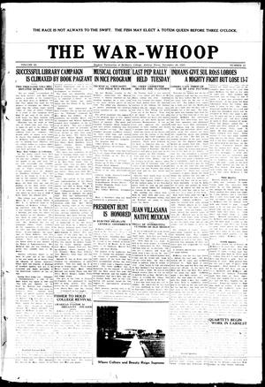 The War-Whoop (Abilene, Tex.), Vol. 3, No. 11, Ed. 1, Saturday, November 28, 1925