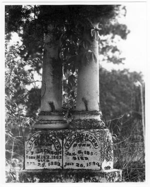 Primary view of object titled '[F.S. and Lela Wallace Jackson Headstone]'.