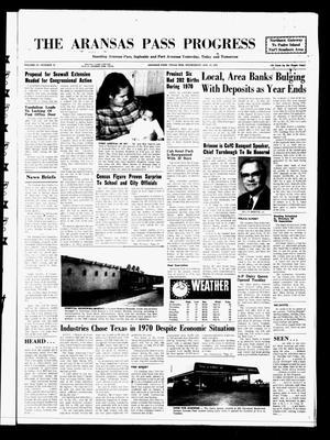 Primary view of The Aransas Pass Progress (Aransas Pass, Tex.), Vol. 62, No. 43, Ed. 1 Wednesday, January 13, 1971