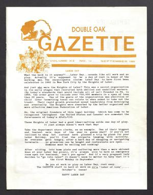 Double Oak Gazette (Double Oak, Tex.), Vol. 11, No. 12, Ed. 1, September 1989