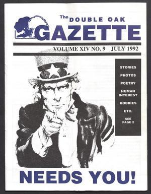 The Double Oak Gazette (Double Oak, Tex.), Vol. 14, No. 9, Ed. 1, July 1992