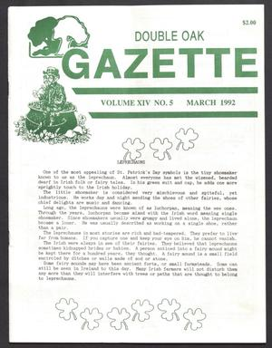 Double Oak Gazette (Double Oak, Tex.), Vol. 14, No. 5, Ed. 1, March 1992