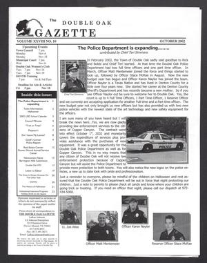 Primary view of object titled 'The Double Oak Gazette (Double Oak, Tex.), Vol. 28, No. 10, Ed. 1 Tuesday, October 1, 2002'.