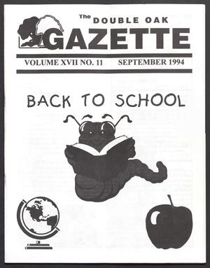 Primary view of object titled 'The Double Oak Gazette (Double Oak, Tex.), Vol. 17, No. 11, Ed. 1, September 1994'.