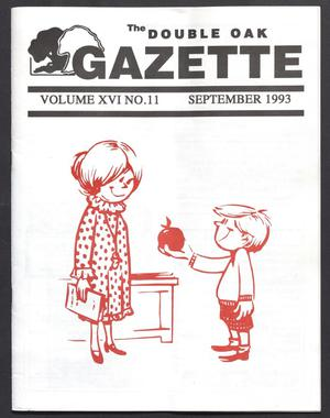Primary view of object titled 'The Double Oak Gazette (Double Oak, Tex.), Vol. 16, No. 11, Ed. 1, September 1993'.