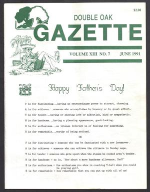 Double Oak Gazette (Double Oak, Tex.), Vol. 13, No. 7, Ed. 1, June 1991