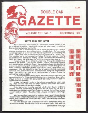 Double Oak Gazette (Double Oak, Tex.), Vol. 13, No. 3, Ed. 1, December 1990