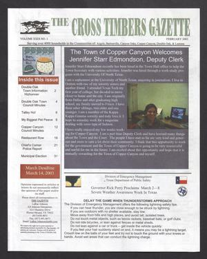 Primary view of object titled 'The Cross Timbers Gazette (Flower Mound, Tex.), Vol. 29, No. 2, Ed. 1, February 2003'.