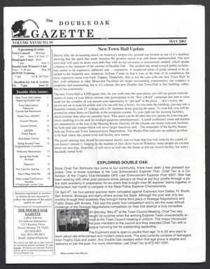 Primary view of object titled 'The Double Oak Gazette (Double Oak, Tex.), Vol. 28, No. 5, Ed. 1 Wednesday, May 1, 2002'.